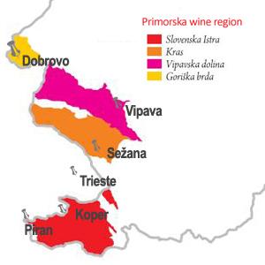 Risultato immagini per Primorska zona vinicola