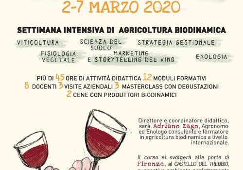 Cambium, alta formazione in viticoltura biodinamica seconda edizione. Firenze 2-7 Marzo 2020