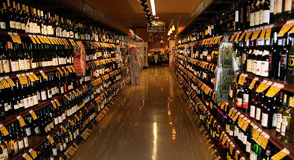 Portabottiglia scaffale per vino bar in stile americano con