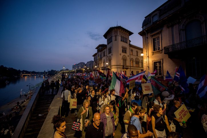 TURIN, ITALY - SEPTEMBER 23: Atmosphere during the Terra Madre Parade during Terra Madre Festival by Slow Food on September 23, 2016 in Turin, Italy. (Photo by Tullio M. Puglia/Getty Images for Slow Food Terra Madre)