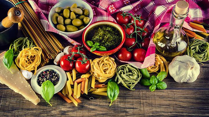 pulito mangiare dieta mediterranean