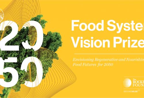 Hai una visione per il sistema alimentare del 2050? Allora partecipa al Food System Vision Prize!